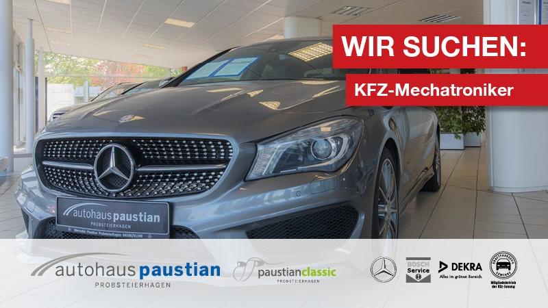 Stellenanzeige des Autohauses Paustian für Mercedes-Benz KFZ-Mechatroniker