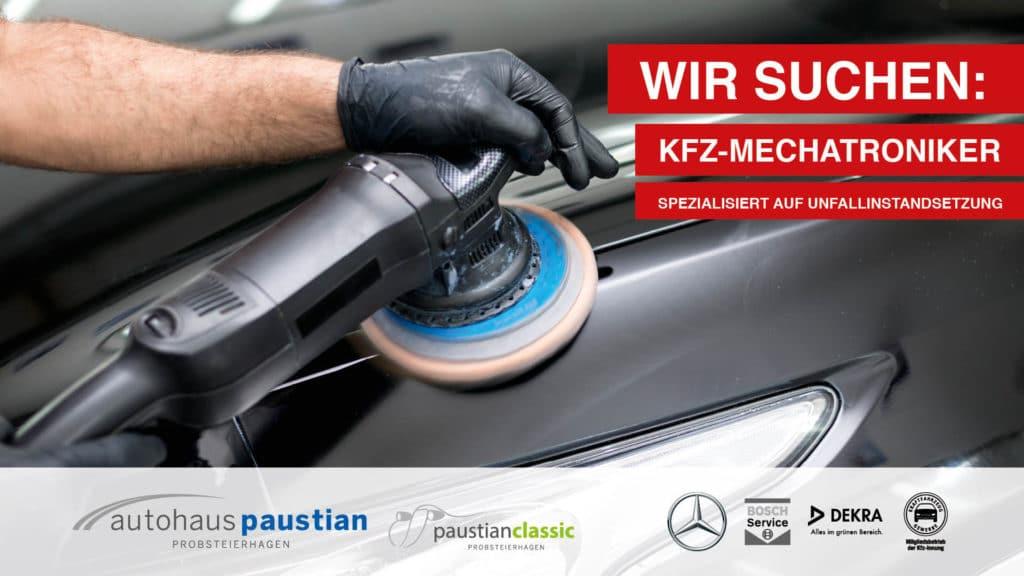 Stellenanzeige des Autohauses Paustian für spezialisierte KFZ-Mechatroniker